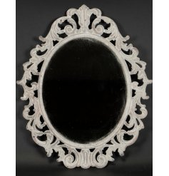 A beautifully distressed inspired hanging wall mirror