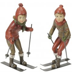 These little skiing ornaments will be sure to bring home a comforting Traditional inspired sense.
