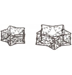 Bring a rustic touch to your Christmas decor and event gatherings with this chic little set of star tlight holders