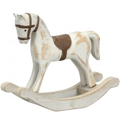 A Small Wooden Rocking Horse