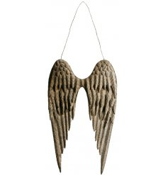 this pair of hanging metal angel wings will be sure to add a charming grace to any home interior