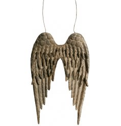 these hanging metal angel wings will be sure to feature perfectly in any home space or display set up