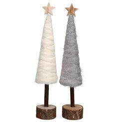 A wonderful assortment of wooden based woollen tree decorations,