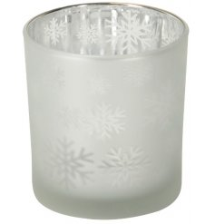 A Small Snowflake Votive Tealight Holder