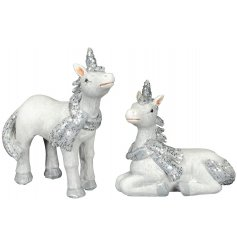Bring a magical and mystical sparkle to your home space with this sweet assortment of festive Unicorn figures