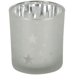A Small Star Votive Tealight Holder
