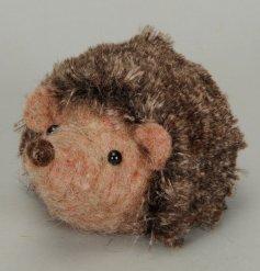 A Small Felt Hedgehog Decoration