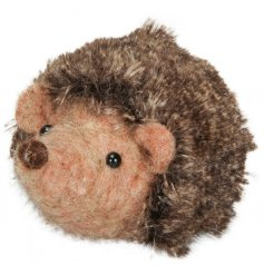 A Small Felt Hedgehog