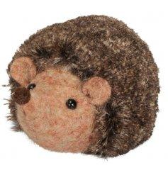 A Felt Hedgehog christmas decoration