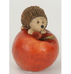 A Hedgehog On An Apple Decoration