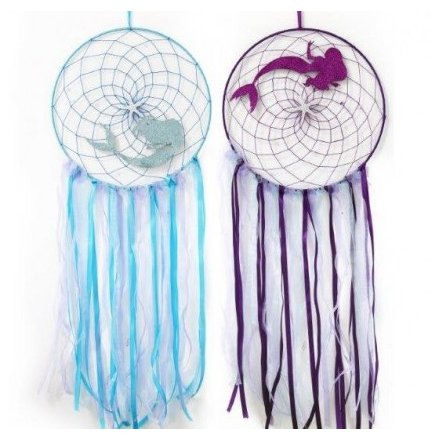 30cm Mermaid Dreamcatchers, 2 Assorted