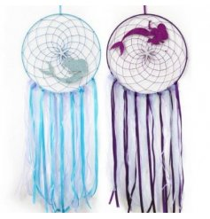 An assortment of blue and purple 30cm Mermaid Dreamcatchers