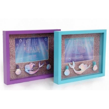 6x4 Mermaid Design Peg Frame, 2 assorted