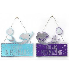 An assortment of 2 Mermaid Design Hanging Decorations