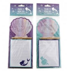An assortment of 2 Mermaid Motto Magnetic Notepads