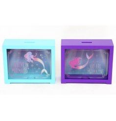 An assortment of 2 Mermaid Motto Money Boxes