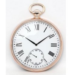 Bring a classical charm to any home interior or display with this pocketwatch styled wall clock