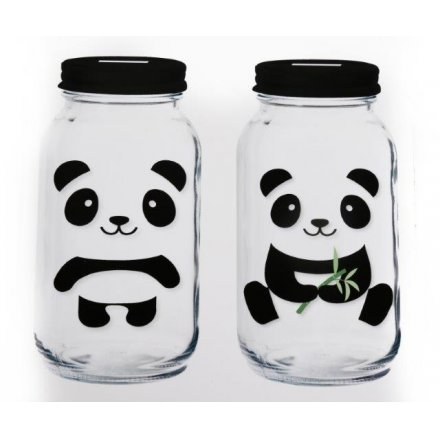 Panda Money Jar, 2 Assorted