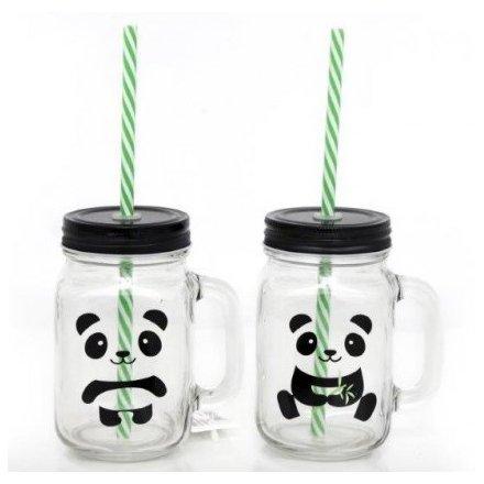 Panda Drinking Jars
