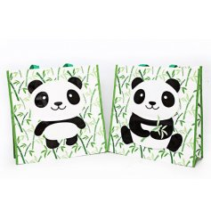 An assortment of 2 Bamboo/Panda Shopper Bags