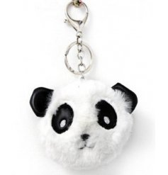 Bring an adorable touch to your backpack or key sets with this little fuzzy faced panda keyring