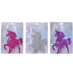 An assortment of 3 Glittery Unicorn Bunting packs