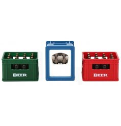 An assortment of 3 Magnetic Beer Bottle Openers