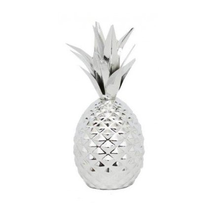 Silver Pineapple With Leaves