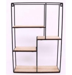 A Wood & Wire Multi Shelf Display Unit
