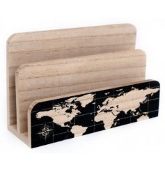 A World Map Design Letter Rack