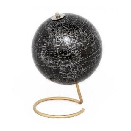 Black/Gold Globe 20.5cm