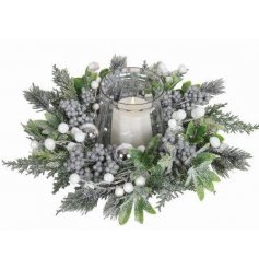 A beautifully frosted table centre piece, perfect for the Christmas Season