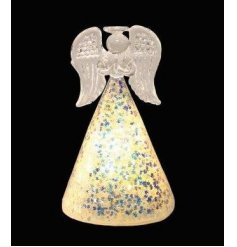 Add some glitz and glamour to the home this season with this magical light up angel decoration.