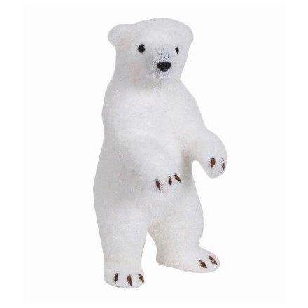 standing polar bear decoration 38cm