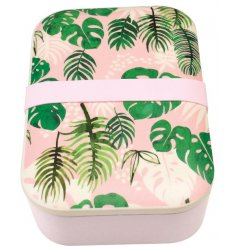 A Tropical Palm Bamboo Lunch Box