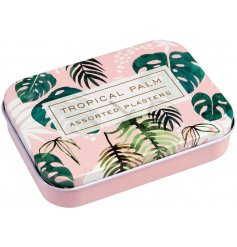 With a trending Greenery print and assorted sized plasters, this little metal tin filled with plasters will come in han