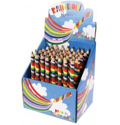 A technicolour colouring pencil, perfect for sprucing up any picture!