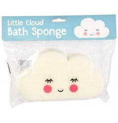 Get your little ones squeaky clean with this sweetly faced cloud shaped bath sponge