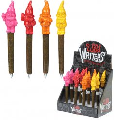 An assortment of 4 Colourful Wild Writers Gnome Pens