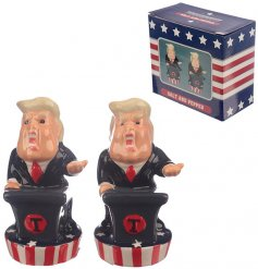 Bring some democracy to your Tea time with this set of novelty salt and pepper shakers