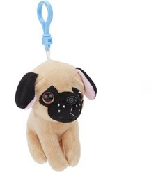 A Clip-on Cuddly Pug accessory