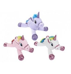 A magical assortment of soft and huggable plush unicorn toys