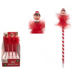Get your little ones to write out their Christmas lists with these fun wibbly wobbly elf head pens!