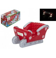 Make your naughty elf ride in style with this fun LED fitted polystone sleigh