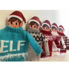Dress up your watchful helpers in these fun festive themed knitted jumpers!