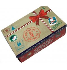 A fun and festive themed Christmas Eve Box! Fill with all the necessities of a cozy Christmas Eve for your little ones