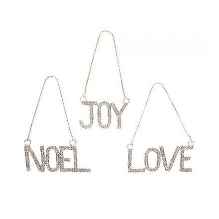 Hanging Diamante Christmas Decorations