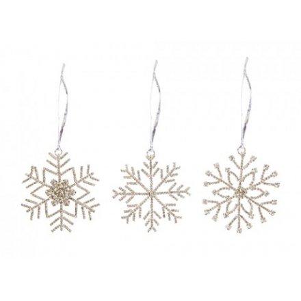 Diamonte Hanging Snowflakes