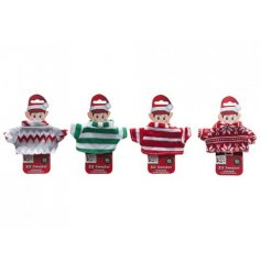 Make displaying your naughty elves even more fun with these festive themed knitted jumpers!