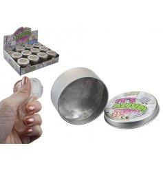 A tin of Liquid Glass Smart Putty